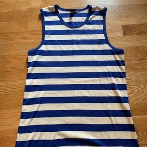 J.Crew: Blue and White Tank Top